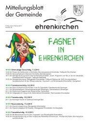 Fasnet - Gemeinde Ehrenkirchen
