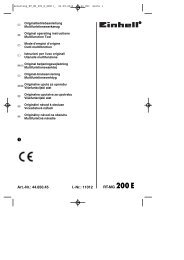 O Art.-Nr.: 44.650.45 I.-Nr.: 11012 RT-MG 200 E