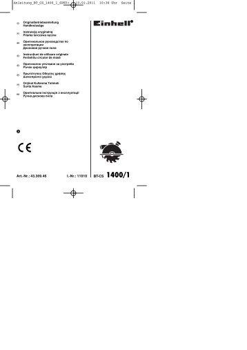 10.01.2011 10:36 Uhr Seite 1 - Einhell