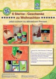 6 Sterne - Geschenke zu Weihnachten 6 Sterne ... - Moguntia