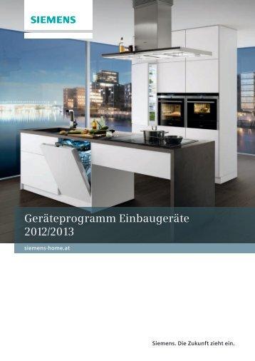Einbaugeräte 2012/2013 Bevorratung - Siemens