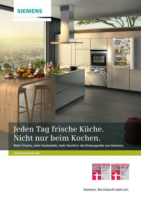 Jeden Tag frische Küche. Nicht nur beim Kochen. - Siemens