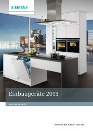 Download Prospekt Einbaugeräte - Siemens Home Appliances