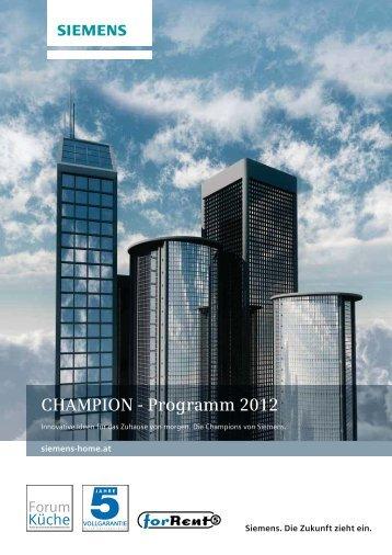 CHAMPION - Programm 2012 - Siemens