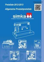 Preisliste 2012-2013 Allgemeine Produktpreisliste - Simka