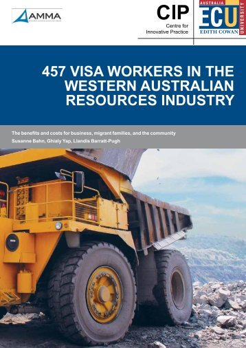 457 visa workers in the western australian resources industry
