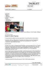 1. April St. Galler Tagblatt online - Tischlein deck dich