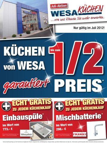 einbausple mischbatterie wesa kchen - Masters Kuchen Burghausen