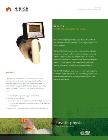 Download RAM ION Datasheet - Mirion  Technologies