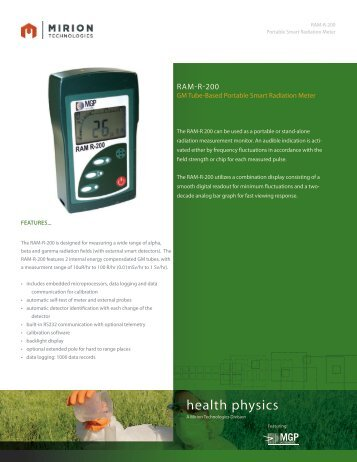 Download RAM R  200  Datasheet - Mirion  Technologies