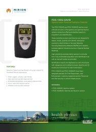 Download Spec Sheet - Mirion Technologies