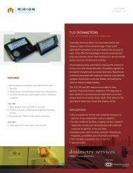 TLD dosimeters - Mirion Technologies
