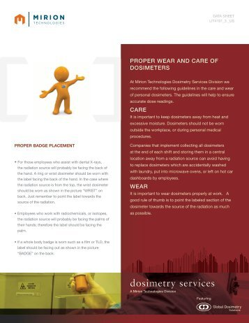 Download Wear and Care Datasheet