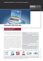 MAXDATA PRO 8100 IWS
