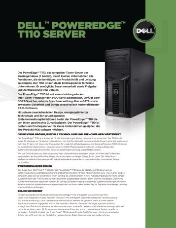 DELLTM POWEREDGETM T110 SERVER
