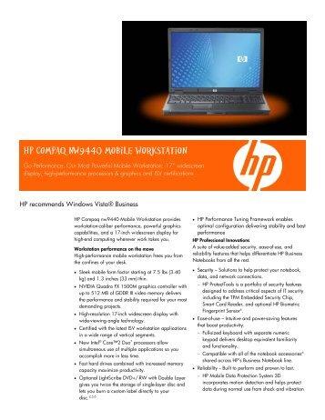 HP Compaq nw9440 Mobile Workstation Broadcom LAN Windows 8 X64 Treiber