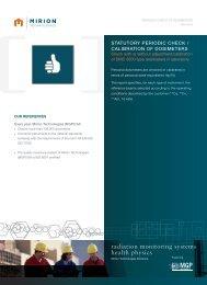 Download Dosimetry Checking of DMC 3000 Datasheet