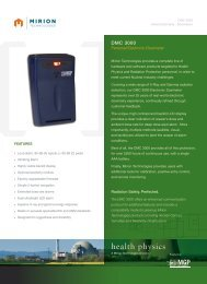 Download DMC 3000 Datasheet - Mirion  Technologies