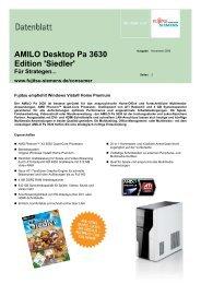 AMILO Desktop Pa 3630 Edition 'Siedler' - Fujitsu