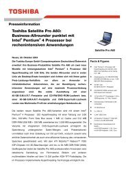 Toshiba Satellite Pro A60: Business-Allrounder punktet mit Intel ...