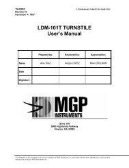 LDM-101T TURNSTILE User's Manual