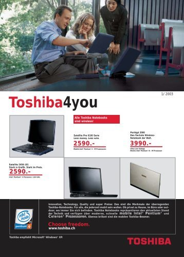 Choose freedom. - Toshiba