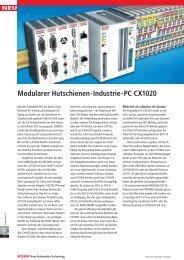 Modularer Hutschienen-Industrie-PC CX1020