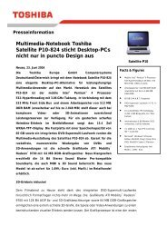 Multimedia-Notebook Toshiba Satellite P10-824 sticht Desktop-PCs ...