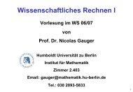 1.Vorlesung - Institut für Mathematik - Humboldt-Universität zu Berlin