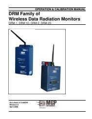 DRM Family of Wireless Data Radiation  Monitors - Mirion ...