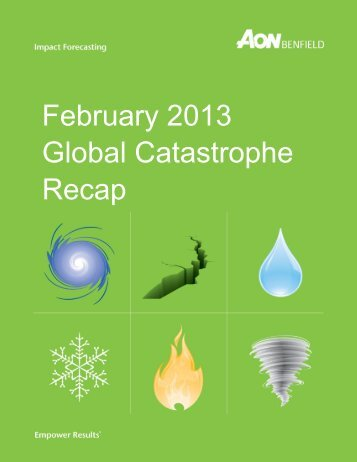 February 2013 Global Catastrophe Recap