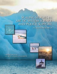 Scaling StudieS in arctic SyStem Science and Policy SuPPort