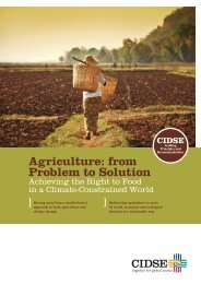 Agriculture: from Problem to Solution Achieving the Right - Misereor