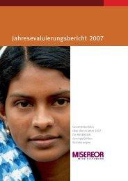 Evaluierungsbericht 2007 - Misereor