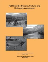 Rat River Biodiversity, Cultural and Historical Assessment - Gwich'in ...