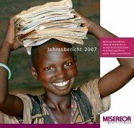 Jahresbericht 2007 - Misereor