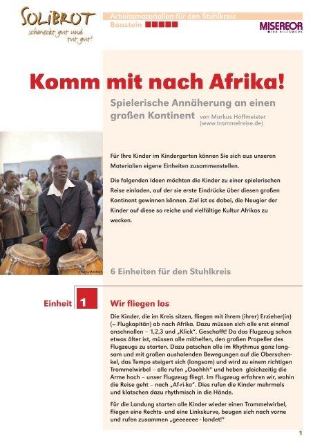 Komm Mit Nach Afrika Misereor