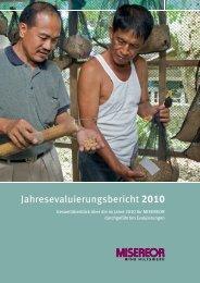 Jahresevaluierungsbericht 2010 - Misereor