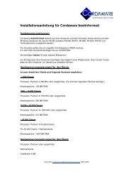 Installationsanleitung für Cordaware bestinformed