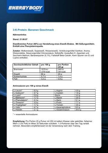 Eiweiß 80 % - Energybody.de