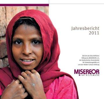 MISEREOR-Jahresbericht 2011 zum download