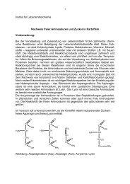 Zucker und freie Aminosäuren - Fachrichtung Chemie und ...