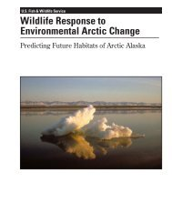 Wildlife Response to Environmental Arctic Change: Predicting Future