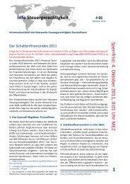 Der Schattenfinanzindex 2011 - NachDenkSeiten