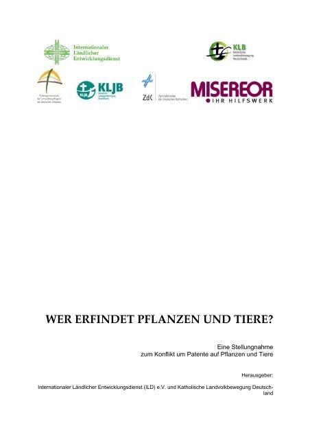 WER ERFINDET PFLANZEN UND TIERE? - Misereor