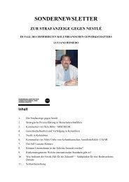 ECCHR Sondernewsletter Nestle - Misereor
