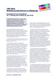 100 Jahre Weltmissionskonferenz in Edinburgh - mission.de