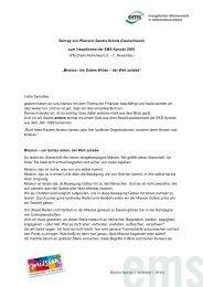 Beitrag von Pfarrerin Sandra Scholz - mission.de