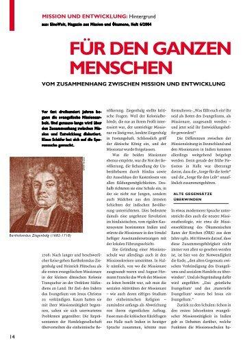 FÜR DEN GANZEN MENSCHEN - mission.de
