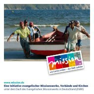 www.mission.de Eine Initiative evangelischer Missionswerke ...
